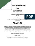 Biblia de Estudio del Expositor Mateo - Jimmy Swaggart Ministries