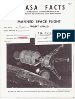 NASA Facts Manned Space Flight Project Apollo