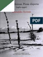 Arenas Reinaldo Libro de Arenas. Prosa Dispersa 1965 1990