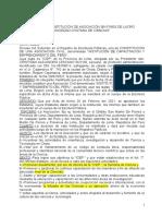 constitución sin fines lucro-ICEP