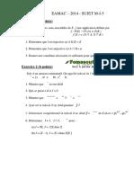 Maths Ingénieur 2014