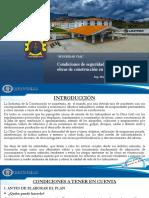 CONDICIONES DE SEGURIDAD Y SALUD EN LAS OBRAS DE CONSTRUCCION