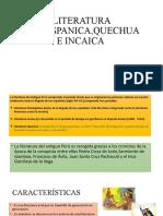 431807881 Literatura Prehispanica Quechua e Incaica Pptx