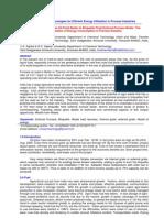 SustainableTechnologiesforEfficientEnergyUtilizationInProcessIndustries