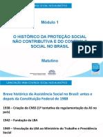 O HISTÓRICO DA PROTEÇÃO SOCIAL NAO CONTRIBUTIVA E O CONTROLE SOCIAL DO BRASIL