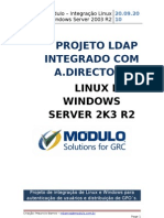 Integração Via LDAP LINUX e WINDOWS Server