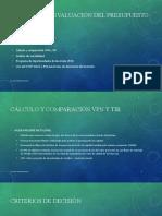 TECNICAS DE EVALUACIÓN DEL PRESUPUESTO DE CAPITAL (1)