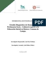 Informe Final Diagnostico de Educacion Inicial Batuco 2007