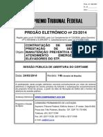 PRE 023 2014 - Prestação de serviços de manutenção de elevadores - 352 967