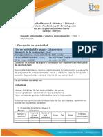 Guia de actividades y Rúbrica de evaluación - Fase  5 - Implantación