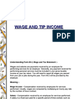 Wage and Tip Income