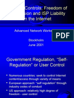 Content Controls, Freedom of Expression and ISP Liability on the Internet