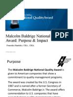 13. Malcolm Baldridge Award