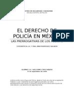 PRERROGATIVAS DE LOS POLICÍAS EN MÉXICO. Alumno Guillermo López