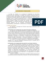 1. La tarea de revisión en el encargo de traducción