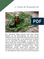 Was sind die Vorteile für Rosmarinöl für die Haut?