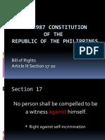 Bill of Rights Sec 17-20