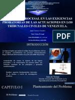 RETARDO PROCESAL EN LAS EXIGENCIA PROBATORIAS DE LAS ACTUACIONES DE LOS TRIBUNALES CIVILES DE VENEZUELA