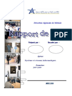 Rapport de Stage ONE