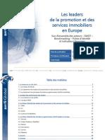 Les Leaders de La Promotion Et Des Services Immobiliers en Europe