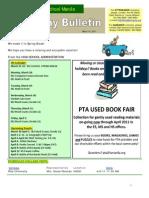 HS Friday Bulletin March 18