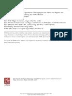 Epistemische Figurationen. Überlegungen Zum Status Von Magiern UndAlchemisten in Der Wissensordnung Der Frühen Neuzeit