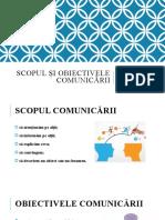 2. Scopul Și Obiectivele Comunicării