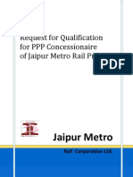 RFQ Jaipur Metro issued on 14th March 2011