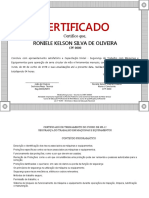 Certificado NR 12