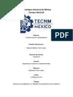 Resumen Investigación 1.1_ Modelos de arquitecturas de cómputo