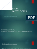 COHERENCIA ONTOLOGICA LENGUAJE GENERATIVO VS LENGUAJE DESCRIPTIVO