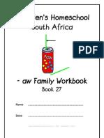 aw End-Word Family Workbook, Donnette E Davis, St Aiden's Homeschool