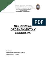 Metodos de Ordenamiento y Busqueda Rodolfo Sánchez