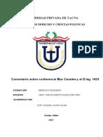 Comentario sobre conferencia Max Canales y el D.leg. 1433