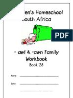 awl & awn End-Word Family Workbook, Donnette E Davis, St Aiden's Homeschool