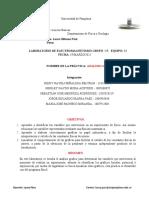 LABORATORIO ELECTRO 2 INFORME