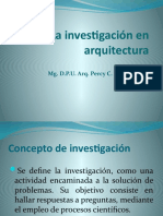 La investigación en arquitectura.