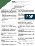 QUEDA DOS CORPOS - TESTES TEÓRICOS 2021