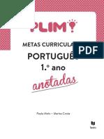Livro das metas Curriculares de Português - Anotadas