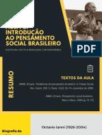 IANNI, Octavio - Pensamento Social Brasileiro
