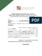 OFICIO DE REPORTE DE CUENTA