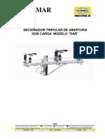 Chave seccionadora 15KV - DAR-alavanca de manobra