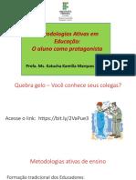 Metodologias Ativas - Reunião Pedagógica