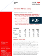 HSBC Report on Gold