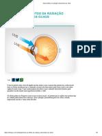 Saiba efeitos da radiação ultravioleta nos olhos