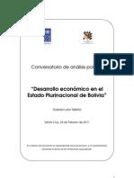 Desarrollo económico en el Estado Plurinacional de Bolivia