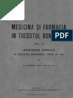 Medicina Şi Farmacia În Trecutul Românesc Vol 3