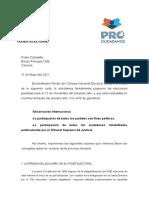 Prociudadanos pide al presidente del CNE la suspensión formal de las elecciones pautadas para el 21N (Documento)