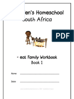 eat End-Word Family Workbook, Donnette E Davis, St Aiden's Homeschool, South Africa