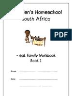eat End-Word Family Workbook, Donnette E Davis, St Aiden's Homeschool, South Africa